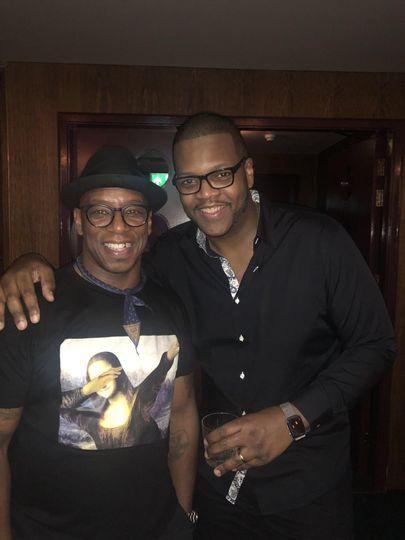 DJ Dave B with Ian Wright