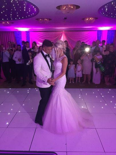 The couple on the dance floor