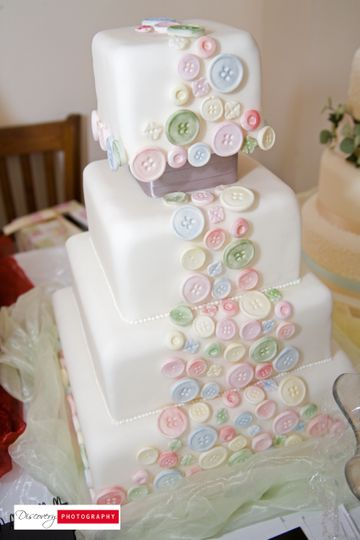 Pastel Buttons 4 Tier Cake