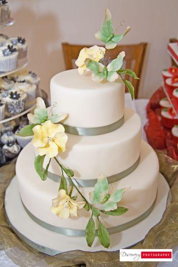 Butterflies & Primroses 3 Tier Cake