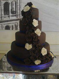 4 Tier Chocolate Roses Cake
