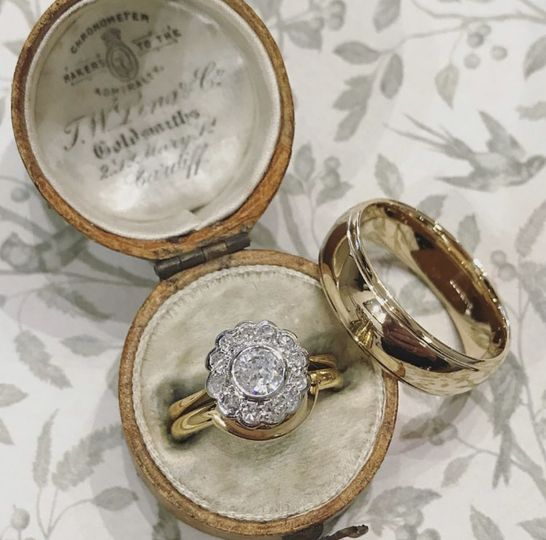 Shaped to fit antique ring