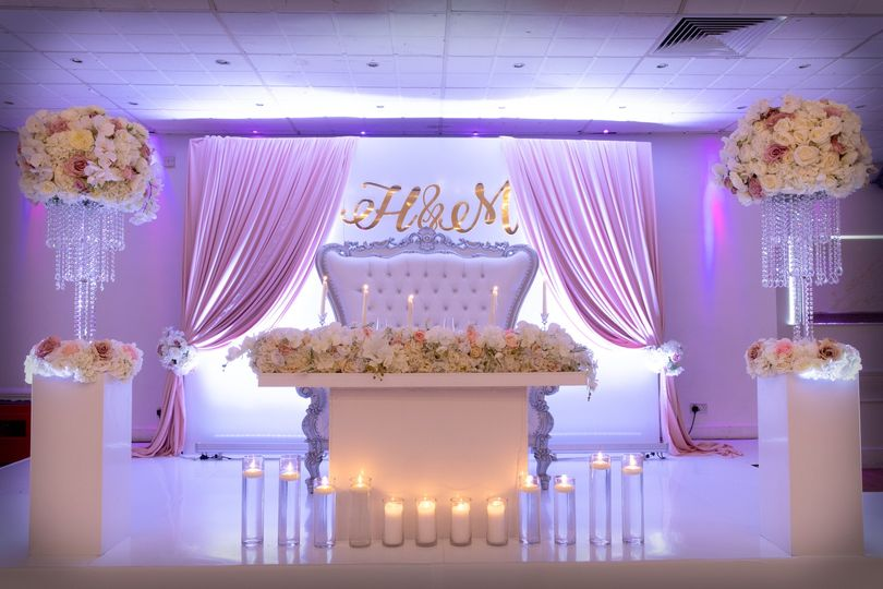 Sweetheart Table with Floating Candles