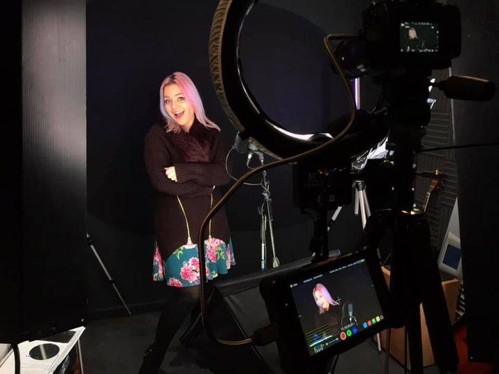 Recording in the studio!