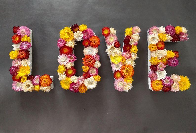 Dried Flower Wedding Sign