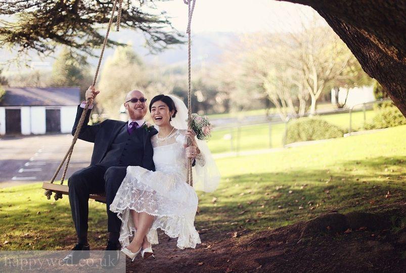 Bride & Groom Wedding Swing