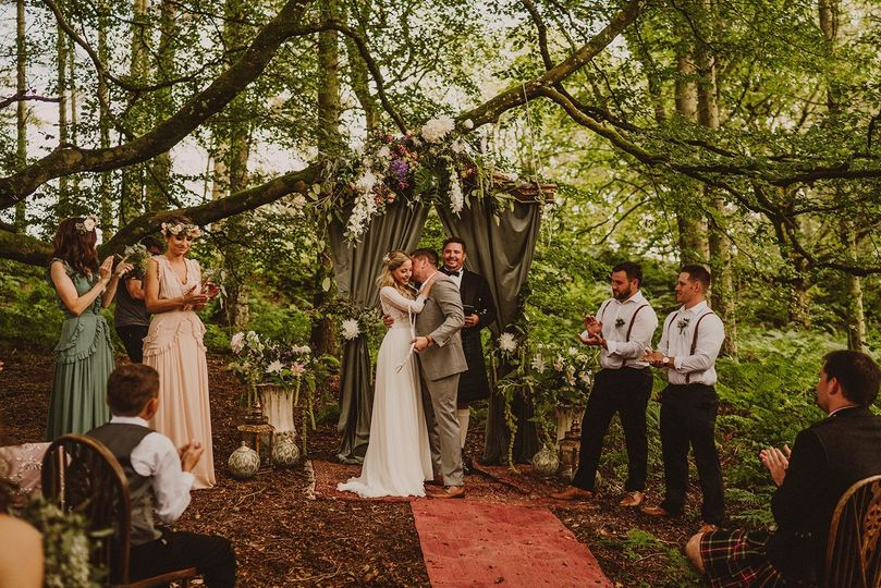 Dreamy woodland wedding