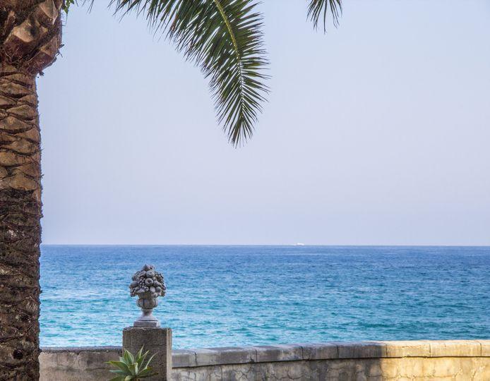 Beautiful sea terrace view