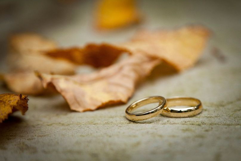 Autumn Wedding Rings
