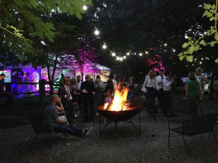 Tournerbury wedding venue firepit
