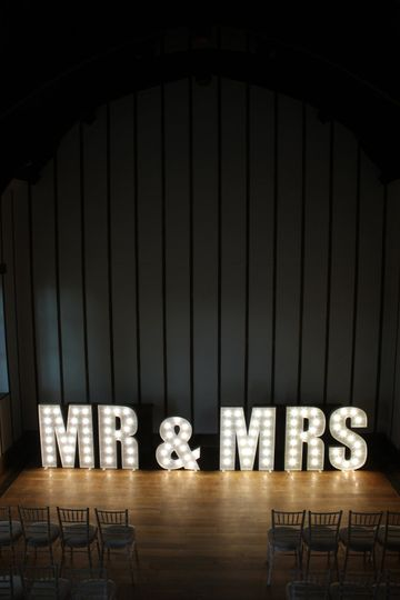 Mr & Mrs Illuminated Letters