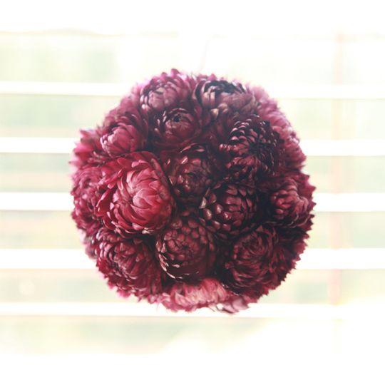 Dried flower pomander