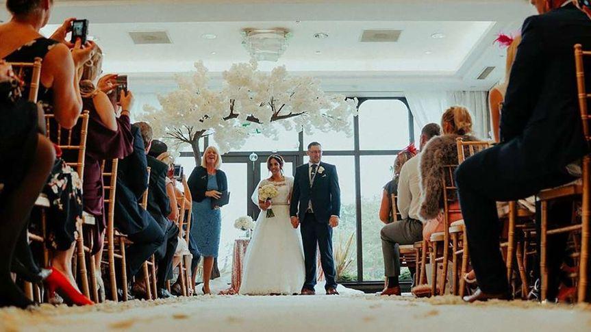 Wedding ceremony in Wardle Suite