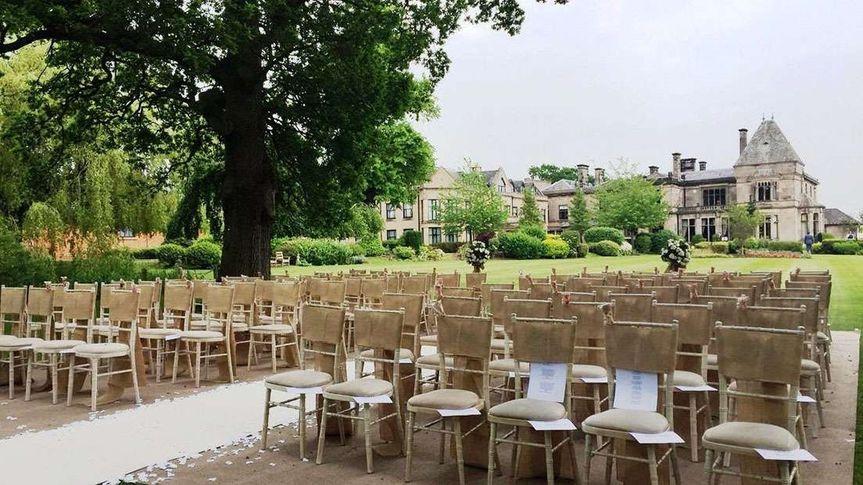 Outdoor ceremony in Garden Pavilion