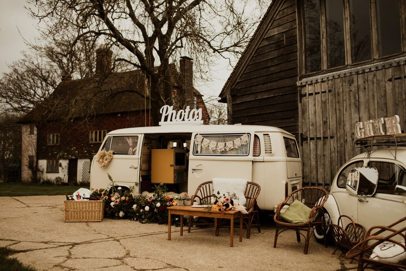 Campervan photobooth - Surrey London Sussex Kent