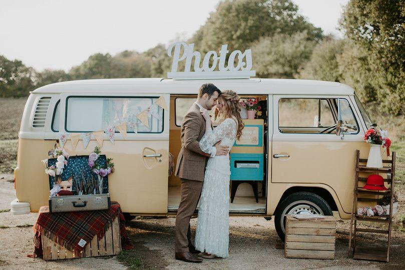Campervan photobooth - Buttercup Bus Vinatge Campers