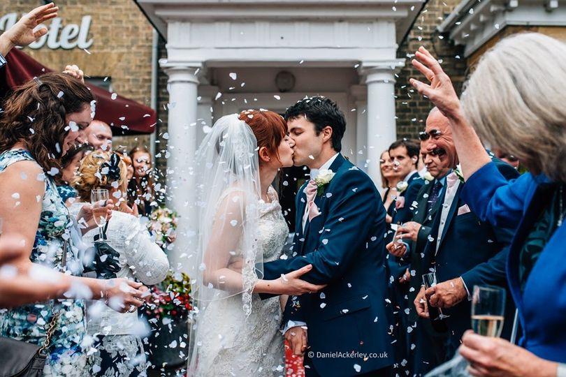 Slepe Hall Hotel Wedding Kiss