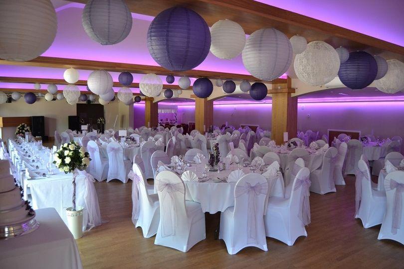 Brunel Suite Wedding Breakfast Slepe Hall Hotel