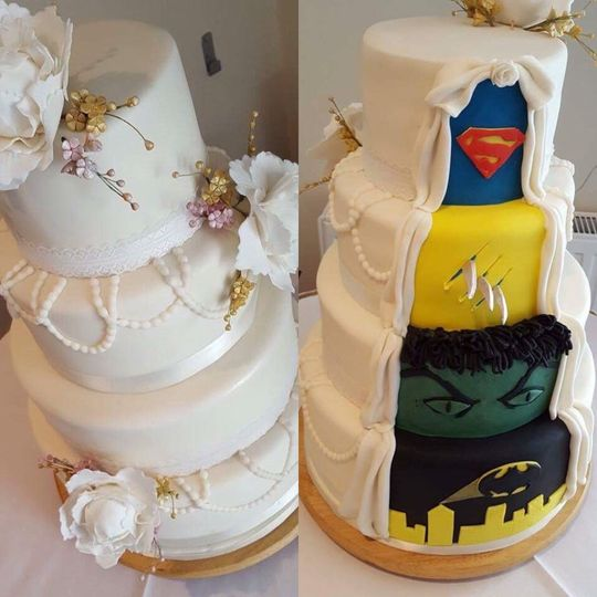Split personality cake