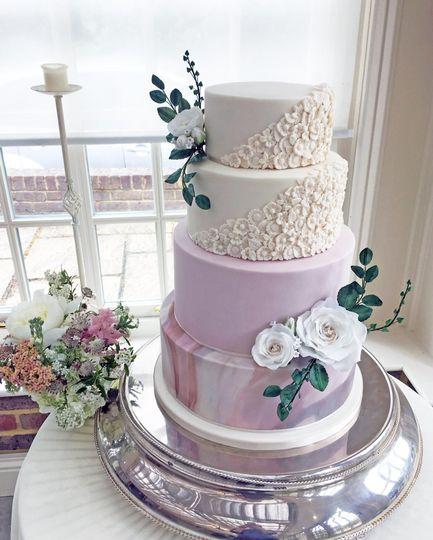 Four tier fondant wedding cake