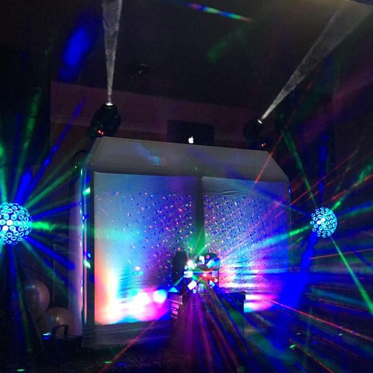 DJ booth and dance-floor lights