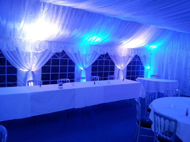 Stunning blue & white uplight