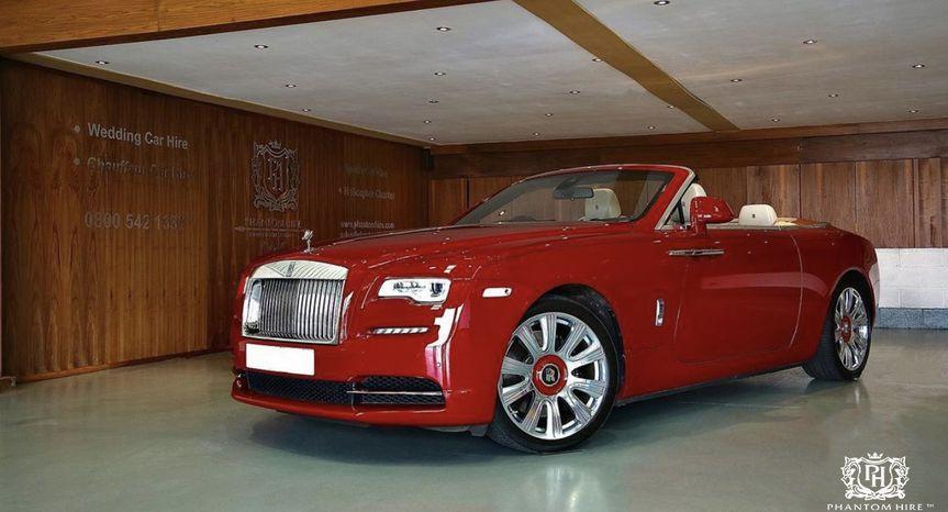 Ensign Red Rolls Royce Dawn