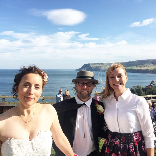 A cliff top wedding