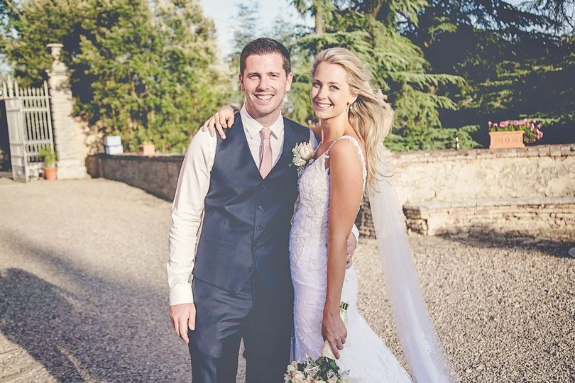 Happy newlyweds