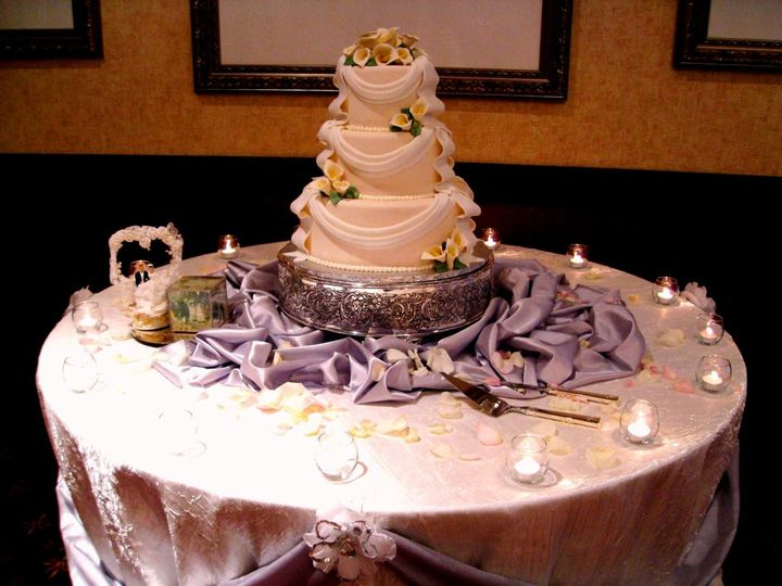 Cake table styling
