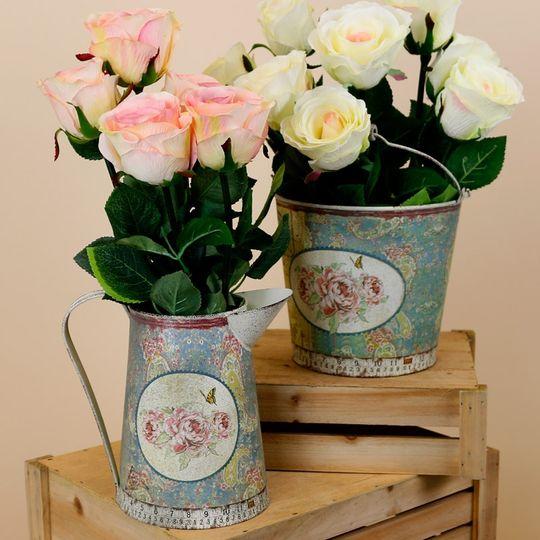 Vintage floral vases