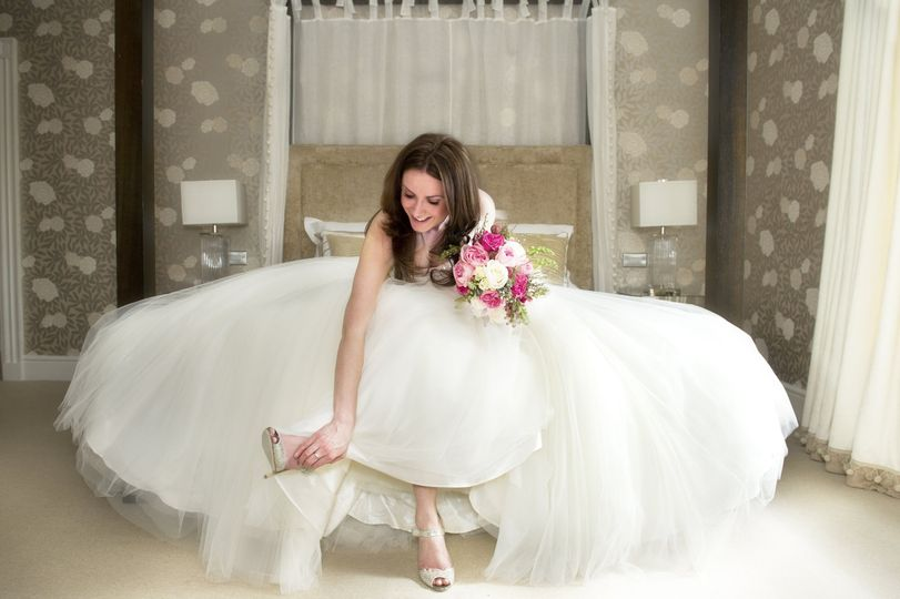 One of Our Beautiful Brides in our Master Suite