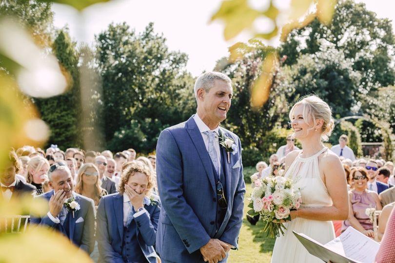 Garden Wedding Happiness