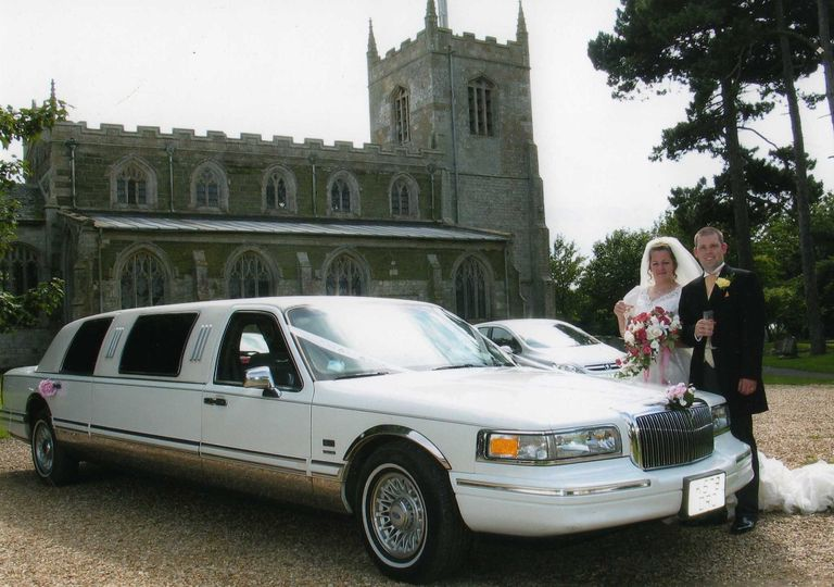 One of our weddings with our classic Lincoln towncar limousine