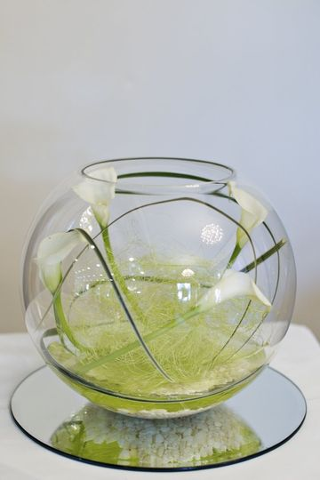 Calla Lilly Fish Bowl Design
