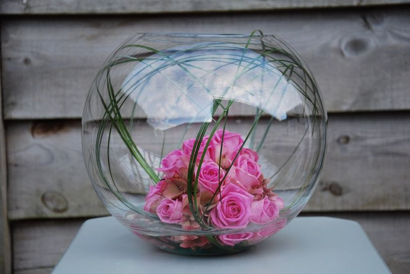 Rose Cluster Fish Bowl
