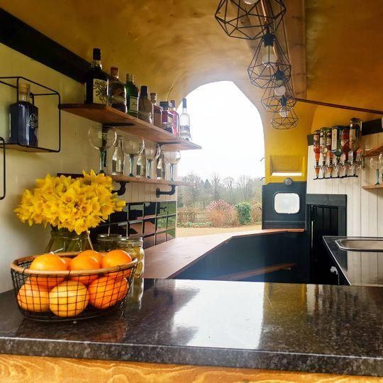 Inside the horsebox