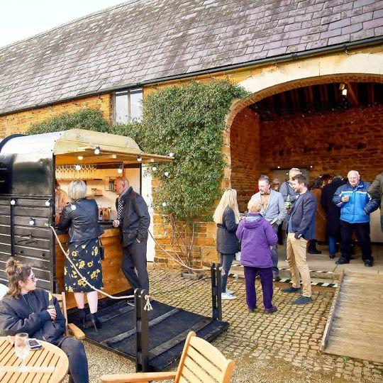 Our beautiful horsebox bar