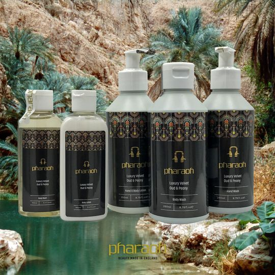 Peony and Oud bath collection