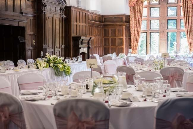 Wedding breakfast at Woldingham School, Marden Park, Surrey