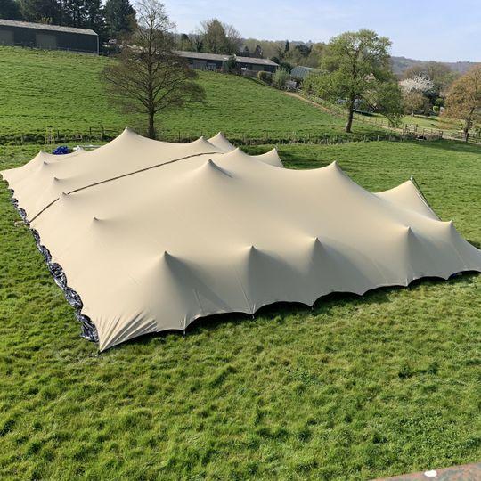 Elegant stretch tent