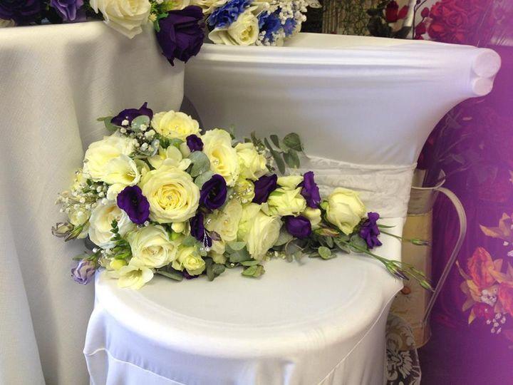 purple and cream