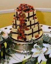 Fruit Cascade Wedding Cake
