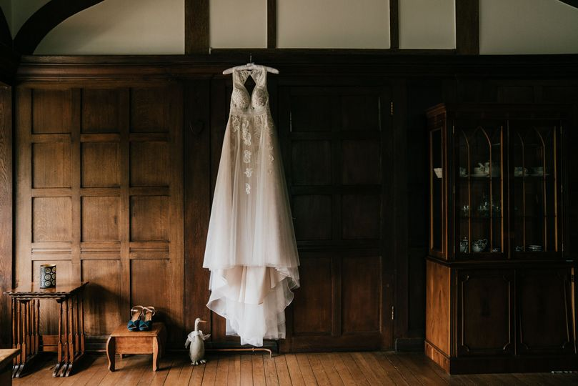 Wedding dress rustic