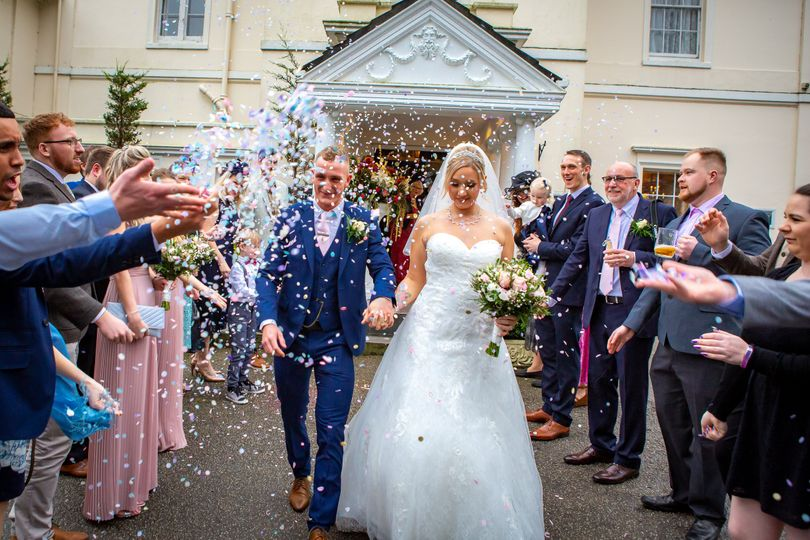 Just married at the Penventon Park Hotel