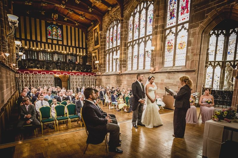 Wedding ceremony at St Marys Guildhall