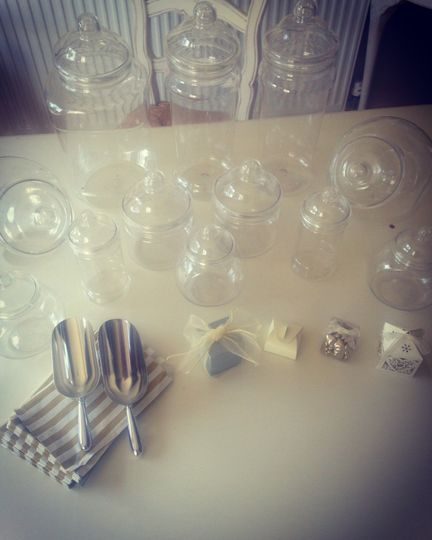 Candy buffet apothecary jars