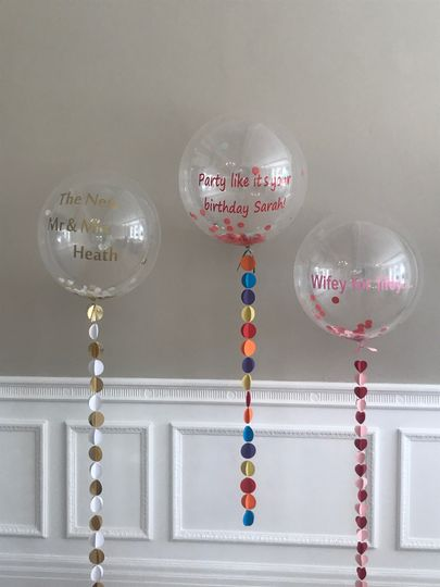 Personalised Bubble Balloons