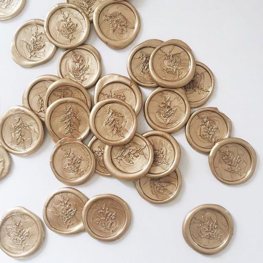 Gold wax seals