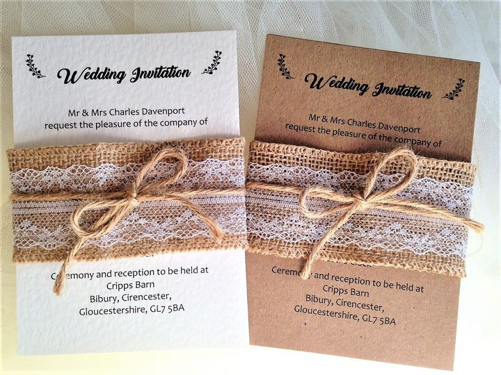Burlap and Lace Belly Band £2